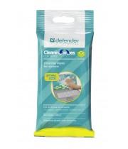 CLN 30202 Салфетки Defender для экранов мягкая упаковка с подвесом/ 20 шт/ Россия