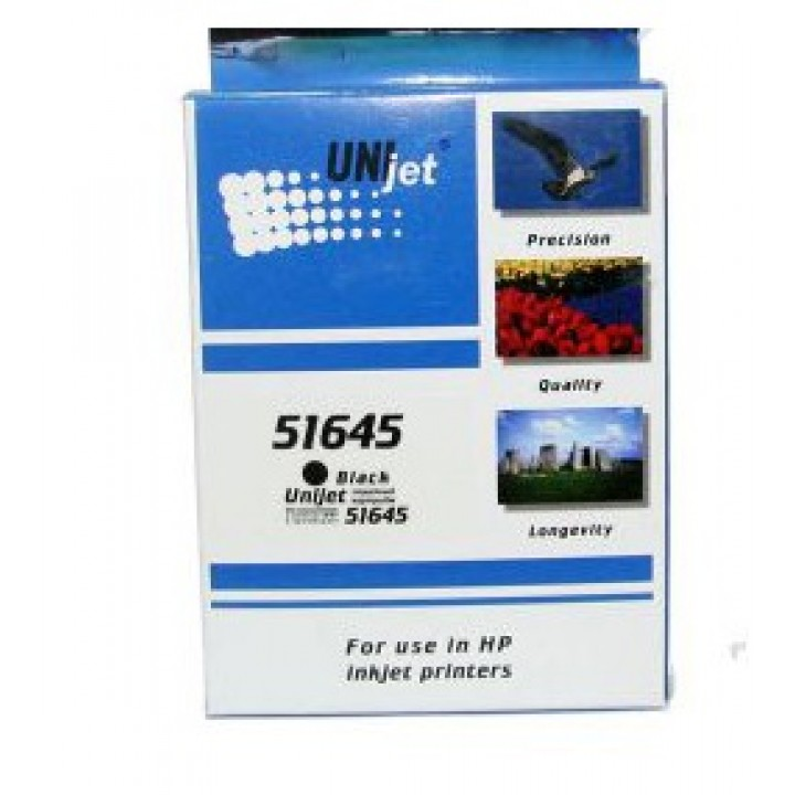 51645A №45 (Bk) Картридж для HP совместмый Unijet
