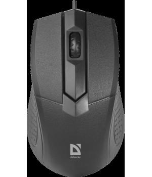 Мышь проводная оптическая Defender Optimum MB-270 /3 кнопка/100 dpi/USB/каб - 1,5м/черная