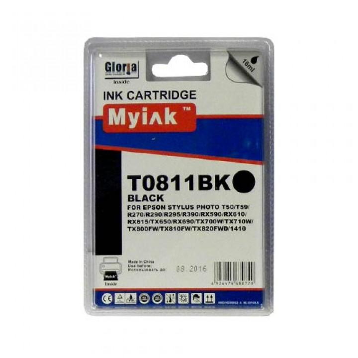 T0821A/811 (Bk) Картридж для EPSON совместимый MyInk