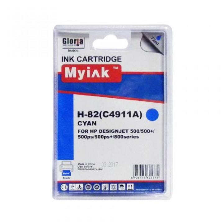C4911A №82 (Cyan) Картридж для HP совместимый Mylnk