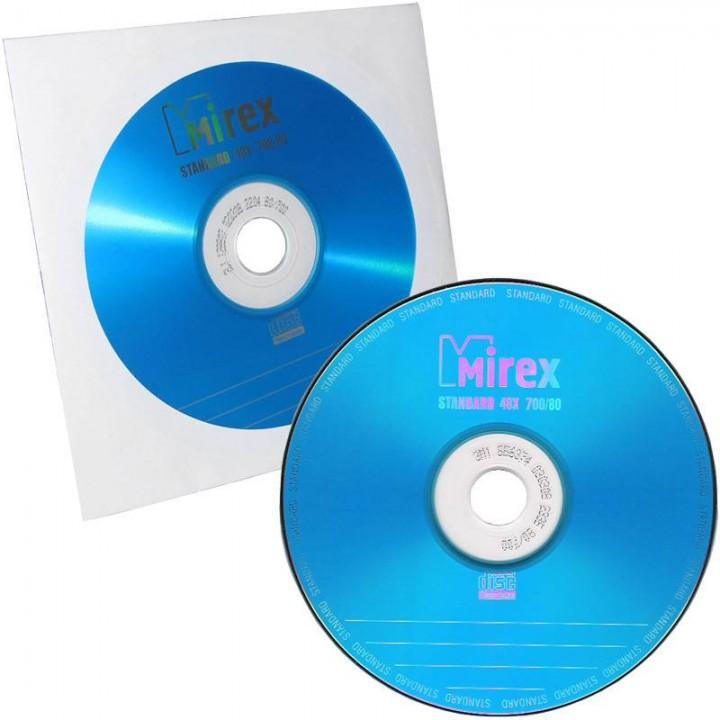 204930 Диск СD-R Mirex 700 Mb, 48x, Standart, Бум.конверт (1), (1/600)
